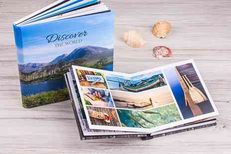 Ecolorland - One, Two or Three Luxury Photo Albums with Lay Flat Binding in Choice of Size - Save 60%