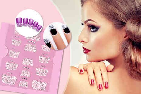 Candy Chic - Pack of lace nail transfers - Save 80%