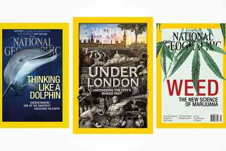 National Geographic Magazine - 12 or 24 Month Subscription to National Geographic with World Map - Save 0%