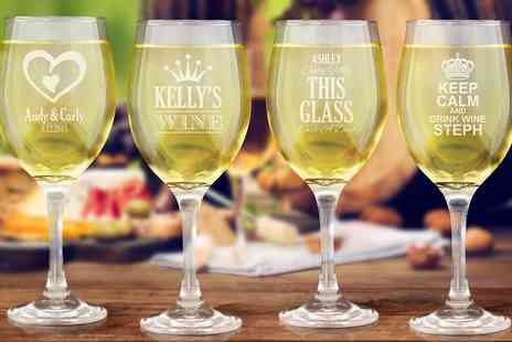 Fabness - Personalised Wine Glasses - Save 60%