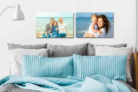 UK Photo Gifts - Personalised 20cm x 20cm or 30cm x 20cm Canvas - Save 83%