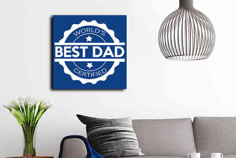 Castel Canvas Prints - Worlds Best Dad Canvas Print for 12 x 12 inch - Save 0%