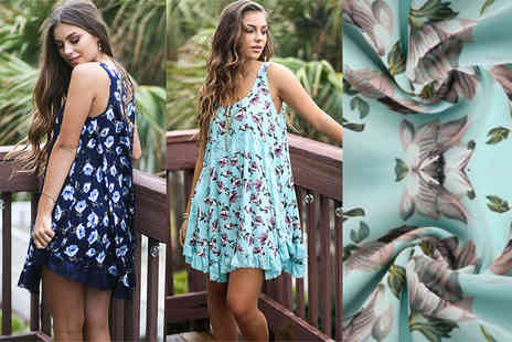 The Wholesale Group - Chiffon floral mini dress - Save 70%