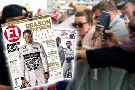 Haymarket Media Group - 12 month subscription to F1 Racing Magazine Plus Delivery Included - Save 59%