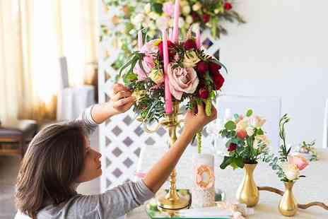 Midas Touch Crafts - Flower arranging workshop for one - Save 78%