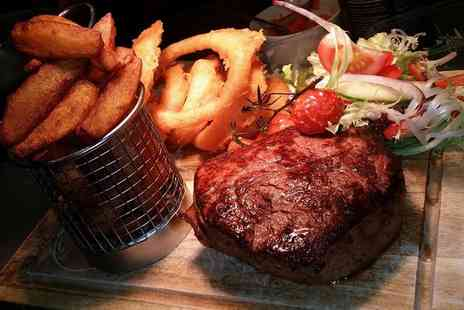 The Smoker Inn - Two Course Rib Eye Steak Meal with Wine for Two or Four - Save 55%