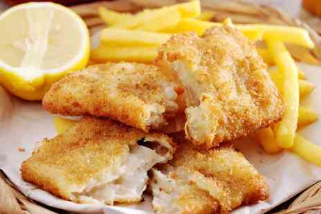 Edge Restaurant - Beer Battered Fish and Chips with a Bottle of Peroni for Two or Four - Save 53%