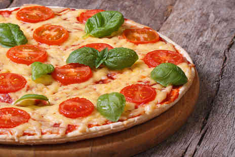 Cafe Cross The Mersey - Pizza, chips and drinks for two - Save 30%