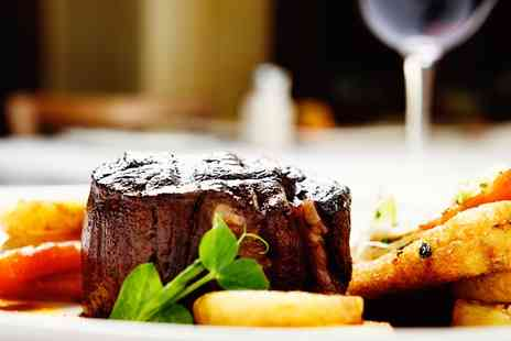 Cafe Yemek - Steak with Glass of Wine for Two or Four - Save 39%