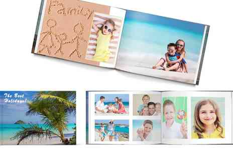 Printerpix - 20cm x 20cm or A4 Hardcover Photobook - Save 71%