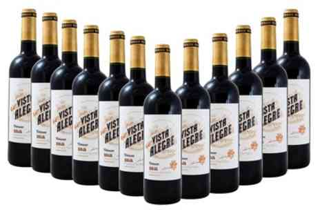 Monte regio - 12 Bottles of Vista Alegre Rioja Crianza Wine With Free Delivery- Save 63%