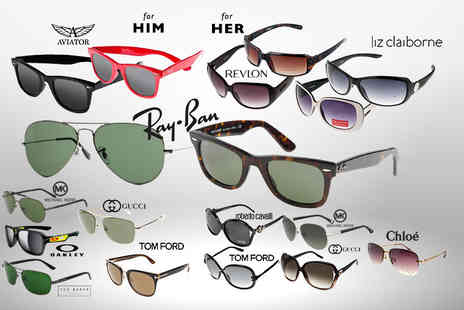 Wowcher Direct - pair of mystery sunglasses for him or her  Gucci, Tom Ford, Ray Ban, Michael Kors, Oakley, Ted Baker, Liz Claiborne, Aviator and more - Save 0%