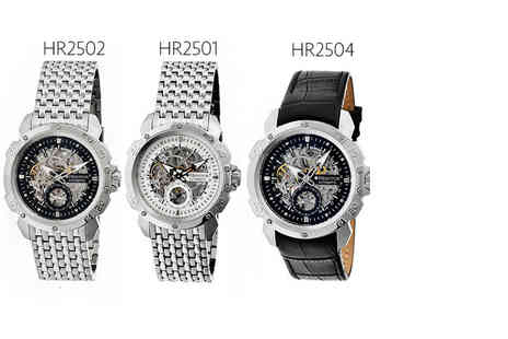 Idealdeal - Mens automatic Heritor Carter watch choose from six styles - Save 83%