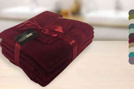 High Living - 6 Piece Egyptian Cotton Towel Bale in 9 Colours - Save 0%