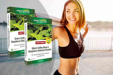 Simply Supplements - Four month supply of green coffee bean and raspberry ketone capsules - Save 0%