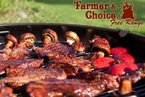 Farmer's Choice - Free Range Bumper BBQ Meat Pack With Delivery for £18 - Save 56%