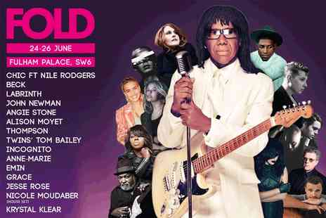 Fold Festival - One ticket to London Fold Festival on Friday 24th and Sunday 26th  June - Save 50%