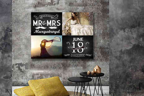 You Frame International - Personalised wedding or anniversary canvas choose from three designs - Save 77%