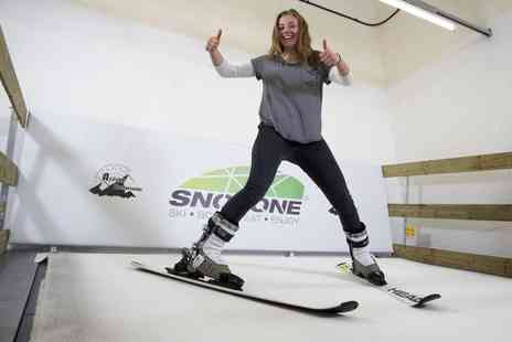 Snozone - Indoor Skiing or Snowboarding Lesson  - Save 51%