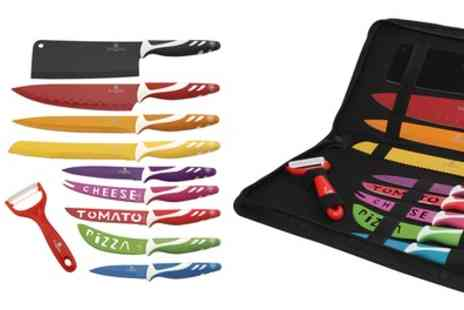 Groupon Goods Global GmbH - 11 Piece Knife Set in Choice of Colour - Save 88%