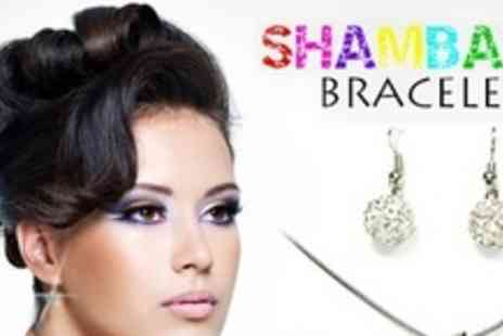 Shambala Bracelet - Shamballa Style Earrings and Necklace Three - Save 67%