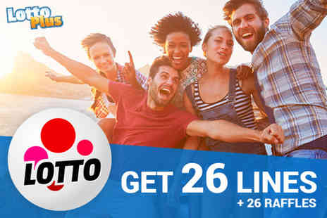 Lotto Plus - 26 lines in two draws in the UK Lotto Syndicate - Save 67%