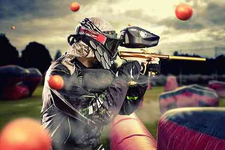 Patriot Paintball - Half day of paintball for five including 100 paintballs per person - Save 90%