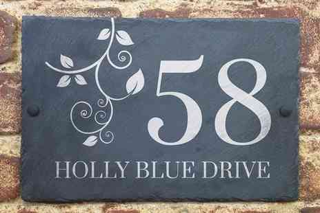 UK Sign Shop - Personalised Slate House Sign  - Save 50%