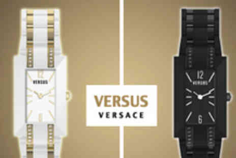 Isabelle Dario - Versace Versus Watch Choice of Black or Gold/White - Save 41%