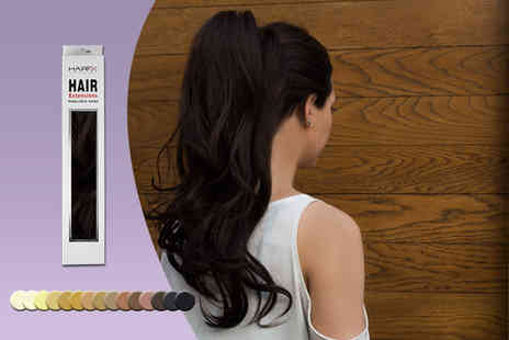 DVA Beautique - 22 inch clip in ThermoFibre ponytail straight with wrap or curly hair extension in a choice of 15 colours - Save 79%
