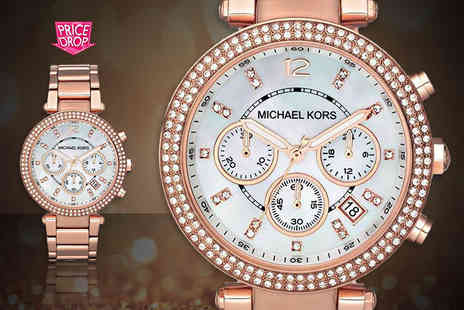 Wowcher Direct - Michael Kors ladies Parker Chronograph watch - Save 52%