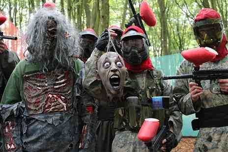 Nationwide Paintball - Paintball Deal for Zombie Stag & Hen Parties, Kids & Adult Birthday Parties, Friends & Family For 5, 10, 20, 30 Players - Save 0%