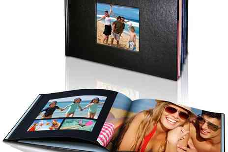 Mini Box - 40 Page or 60 Page Personalised Hard Cover Leather Look Photo Book  - Save 79%