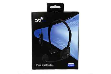 Groupon Goods Global GmbH - ORB Wired Chat Headset for PS4 - Save 69%