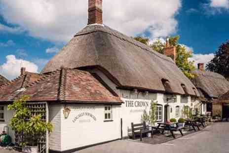 The Crown Cuddington - Two course lunch or dinner for two, including a starter, a main course and a coffee each - Save 47%