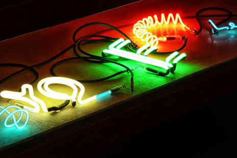 Neon Workshops - Two hour neon glass making workhop - Save 75%