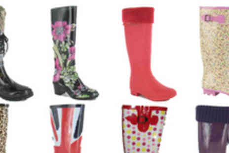 Urshu - Pair of ladies wellies in a choice of designs - Save 68%