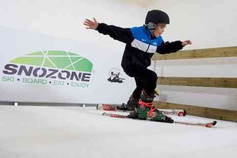 Snozone - Junior Indoor Skiing or Snowboarding Lesson - Save 63%