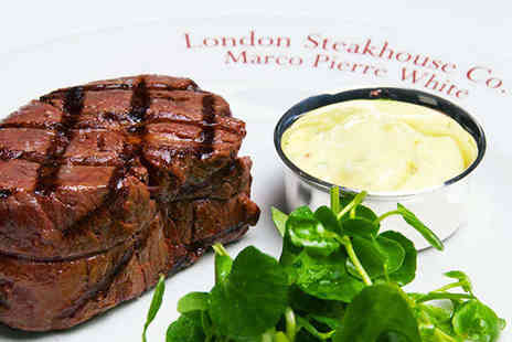 London Steakhouse Company - Three course dining for two including a cocktail each - Save 50%