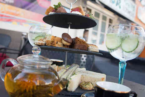 Soda Bar - Afternoon tea for two with a glass of Prosecco or a gin and tonic each - Save 55%