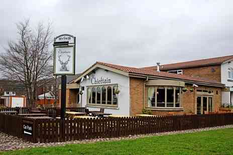 The Chieftain Hotel - Two Course Pub Meal for Two or Four - Save 55%