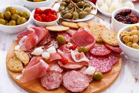 Patisserie Maxime - Charcuterie Sharing Platter and a Bottle of Wine for Two or Four - Save 0%