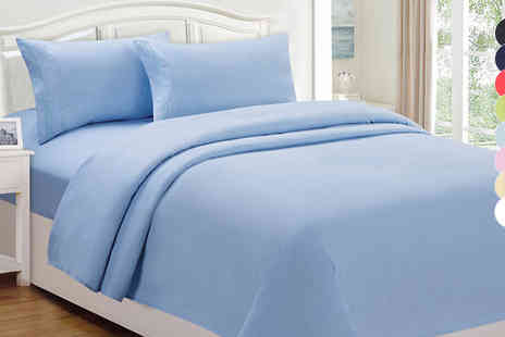 High Living - Egyptian Cotton Fitted Sheet Available In Eight Colours, Three Sizes - Save 0%