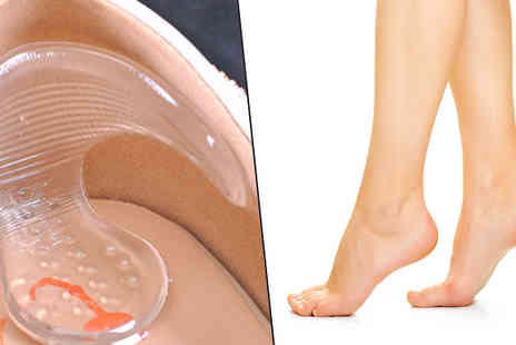 Apricot Leaf - Silicone Gel Heel Protectors One or Two Pairs - Save 60%