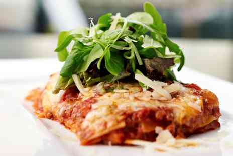 The Med Bar - Moussaka or Beef Lasagne with Salad and Soft Drinks for Two - Save 39%