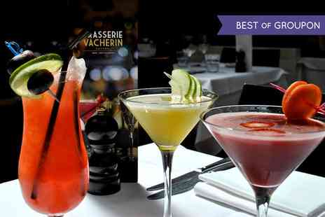 Brasserie Vacherin - Three or Six cocktails - Save 38%