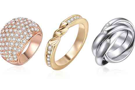 Sarroff - Ring with Crystals from Swarovski in Choice of Model  With Free Delivery - Save 87%