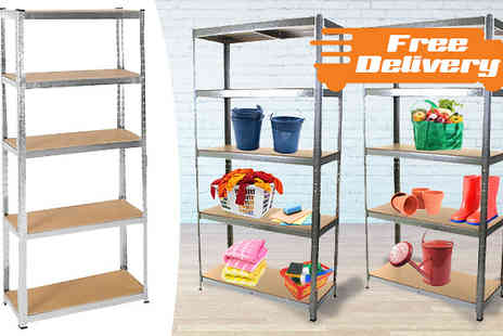 eStore - Five Tier XL Steel Shelving Unit Free Delivery - Save 0%