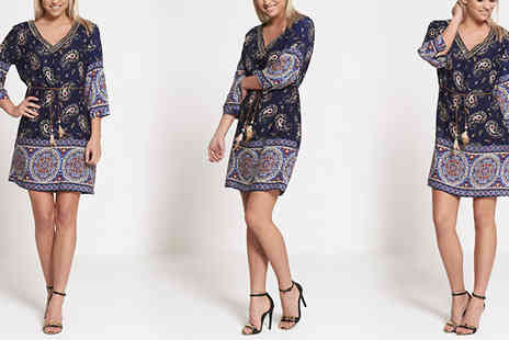 The Fashion City - Womens Paisley Print Shirt Dress - Save 44%