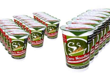 Groupon Goods Global GmbH - 24 Low Carb, Low Calorie Zero Noodles Vegetable Curry Meal Pots With Free Delivery - Save 51%